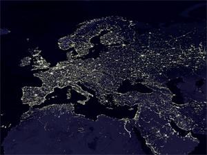 DarkSkyTerschelling: Europa bij nacht