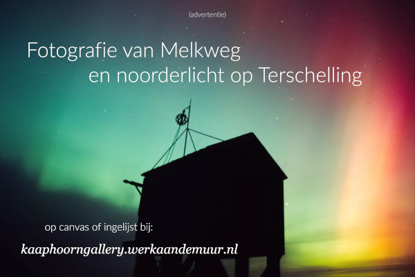 Dark Sky Terschelling - advertentie fotografie